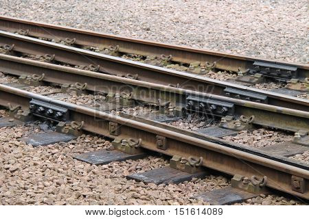 Newly Fitted Fishplates on a Traditional Train Track.