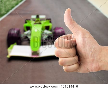 positive hand on of victory in f1