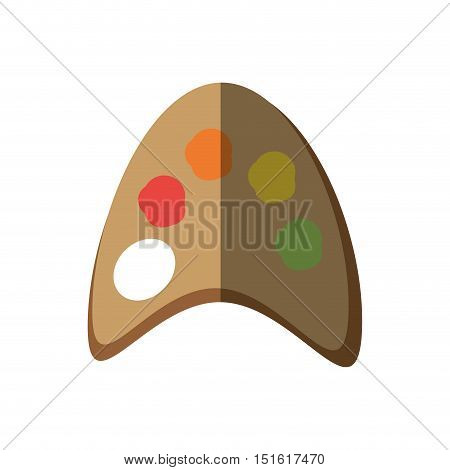 paint pallete colors isolated icon vector illustration design