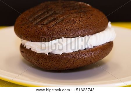 A Chocolate Whoopie Pie is a favorite PA Dutch food treat.