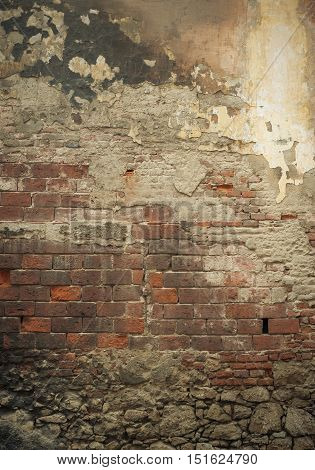 highly detailed grunge brick wall perfect background