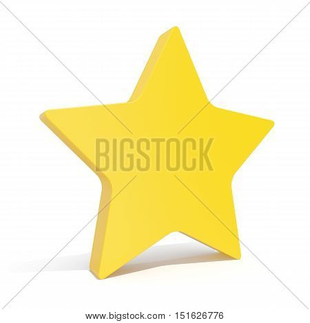 3d illustration star, favorite icon isoated on white background