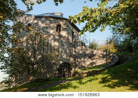 the old tower of the castle ruin Lobenstein