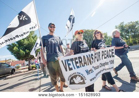 Veterans For Peace At Border Protest March