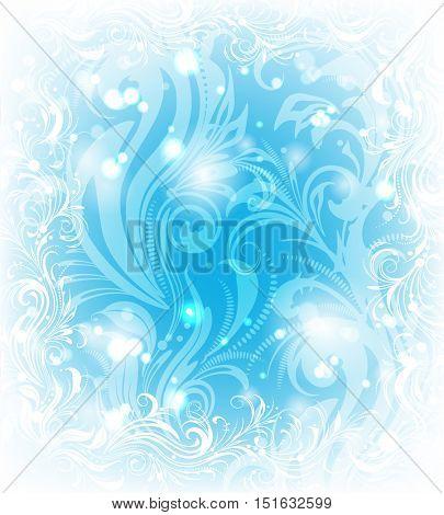 Background of frosty pattern
