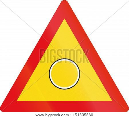 Temporary Road Sign Used In The African Country Of Botswana - Emergency Flashing Light Sign
