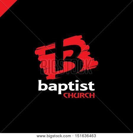Letter B And Cross Church Of Jesus Christ Logo.