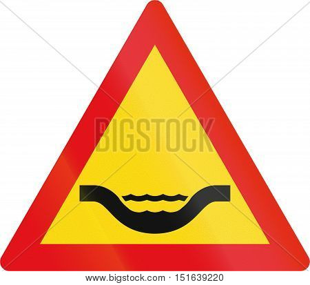 Temporary Road Sign Used In The African Country Of Botswana - Dip