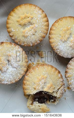 Grouped Christmas Mince Pies From Above
