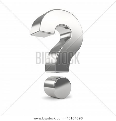 silver 3d question mark