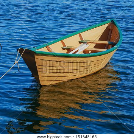 Newfoundland fishing boat or dory. poster
