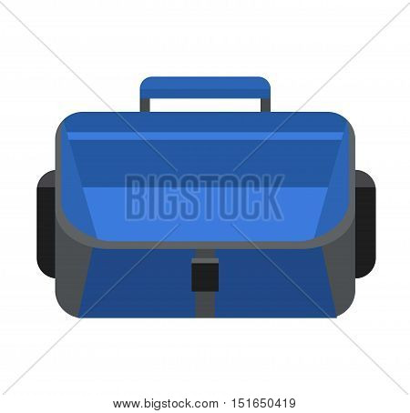Briefcase business bag isolated. Briefcase luggage and document case briefcase. Document case finance businessman object. Office work briefcase vector illustration.