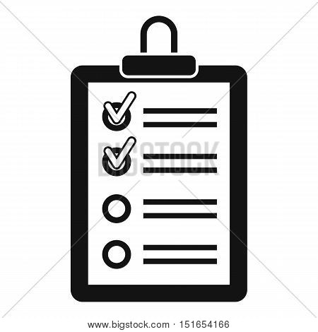 Clipboard with to do list icon. Simple illustration of clipboard with to do list vector icon for web