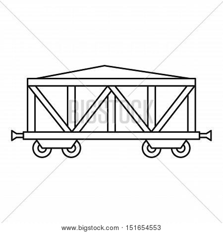 Cargo wagon icon. Outline illustration of cargo wagon vector icon for web