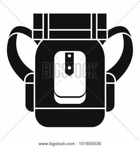 Tourist backpack icon. Simple illustration of tourist backpack vector icon for web
