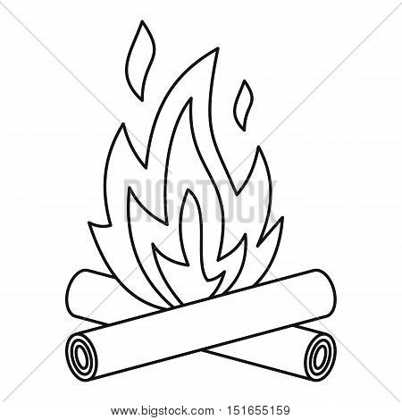 Bonfire icon. Outline illustration of bonfire vector icon for web