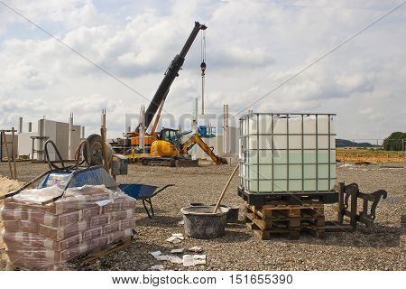 View of the Construction site - Outdoor shoot