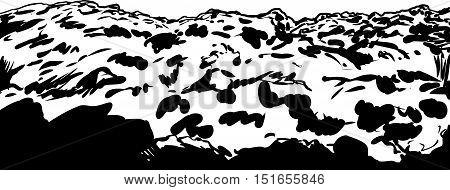 Close Up Outline Illustration Of Soil