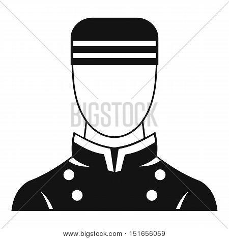 Doorman icon. Simple illustration of doorman vector icon for web