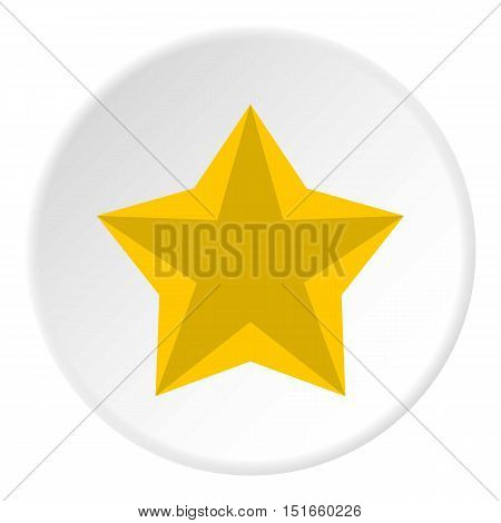 Convex five pointed celestial star icon. Flat illustration of convex five pointed celestial star vector icon for web