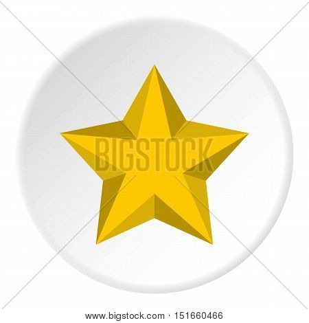 Five pointed convex star icon. Flat illustration of five pointed convex star vector icon for web