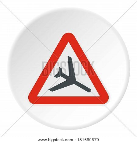 Sign airport icon. Flat illustration of sign airport vector icon for web