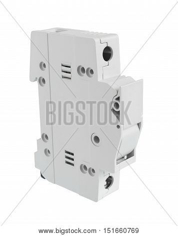 Electrical Fuse Holder Closed Position isolated on white background