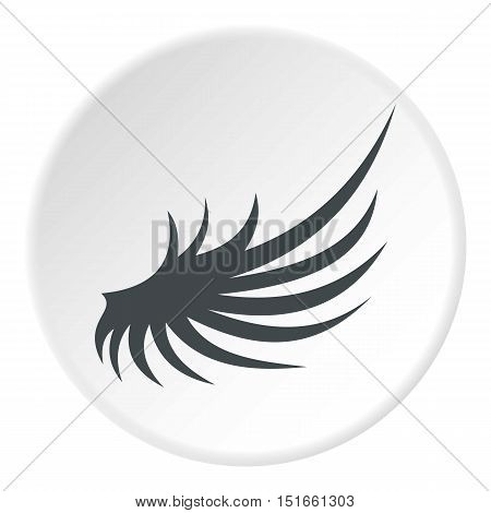 Gray wing icon. Flat illustration of gray wing vector icon for web