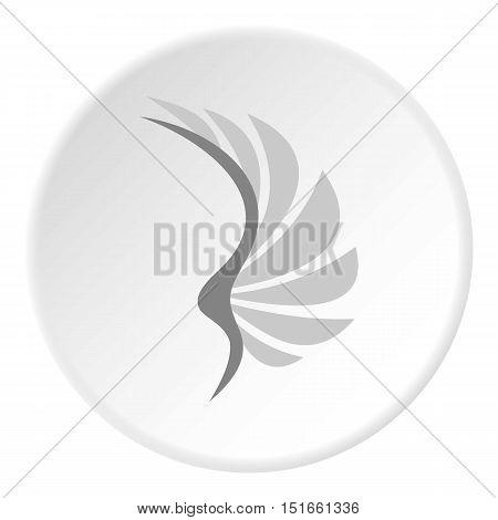 Gray wing of birds icon. Flat illustration of gray wing of birds vector icon for web