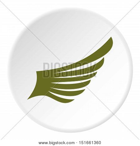 Green wing bird icon. Flat illustration of green wing bird vector icon for web
