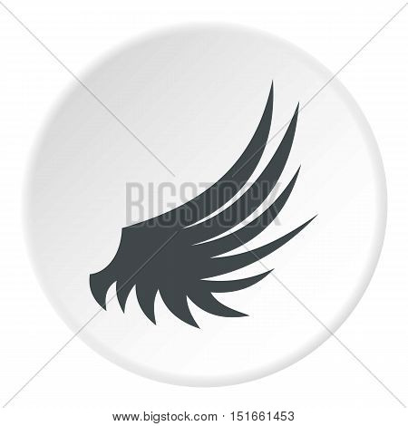 Birds wing icon. Flat illustration of birds wing vector icon for web