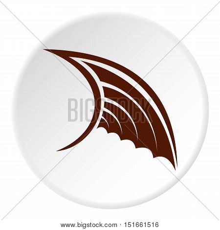 Brown birds wing icon. Flat illustration of brown birds wing vector icon for web
