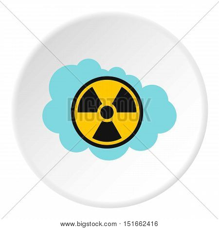 Radioactive air icon. Flat illustration of radioactive air vector icon for web
