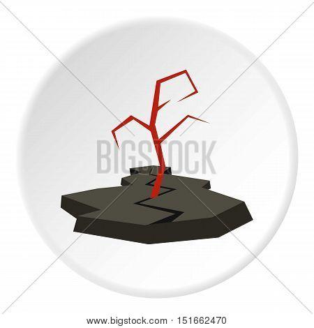 Earthquake icon. Flat illustration of earthquake vector icon for web