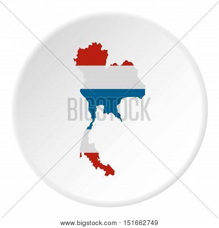 Map of Thailand icon. Flat illustration of map of Thailand vector icon for web
