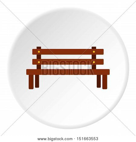Wooden bench icon. Flat illustration of wooden bench vector icon for web