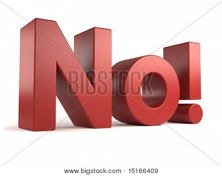 big 3d text - no