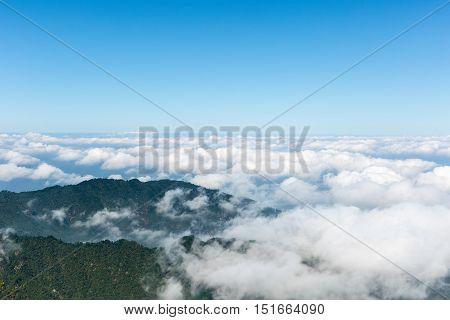 sea of clouds at jiugong mountain hubei provinceChina