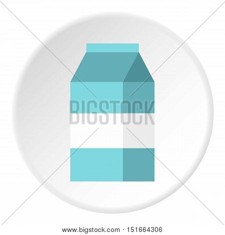 Milk box icon. Flat illustration of milk box vector icon for web