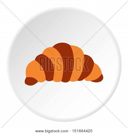Croissant icon. Flat illustration of croissant vector icon for web