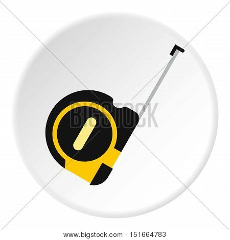 Construction roulette icon. Flat illustration of construction roulette vector icon for web