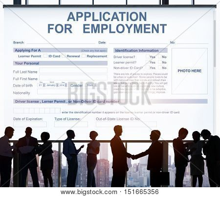 Application For Employment Job Concept