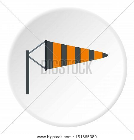 Supplies a wind sock icon. Flat illustration of supplies a wind sock vector icon for web