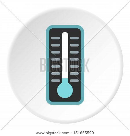 Thermometer with low temperature icon. Flat illustration of thermometer with low temperature vector icon for web