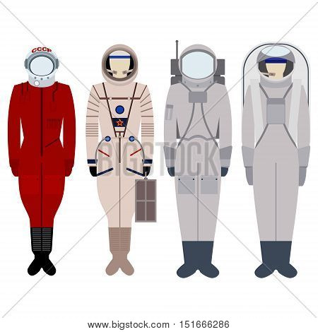 Spacesuit for spacewalk. Illustration on white background