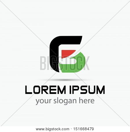 Number 6 logo. Vector logotype design 2