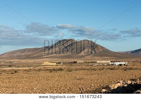 Beautiful volcanic mountains on Fuerteventura. Canary Islands. Fuerteventura. Canary Islands