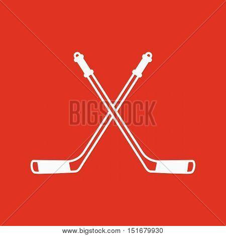 Hockey icon. Sport symbol. Flat Vector illustration