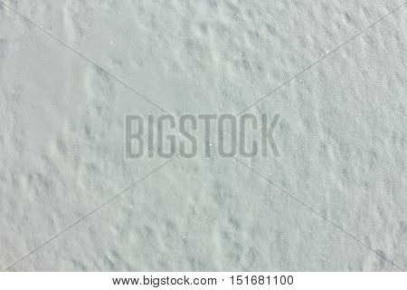 The Texture Of Small Thin Snow On The Ice