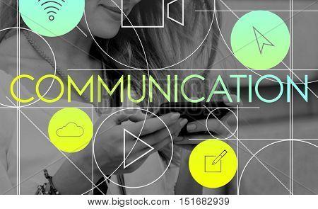 Communication Connection Internet Media Concept